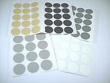 15 Abdeckkappen 20 mm, selbstklebend, schwarz,grau,silber,buche,weiss