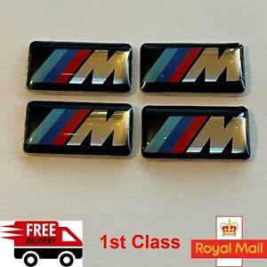 4 x M Sport Performance Alloy Wheel Badge Sticker Emblem Decal For BMW UK 17x9mm
