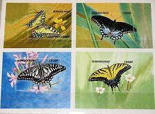 BURKINA FASO 1998 Block 180-83 S/S 1110-13 Butterflies & Mots Schmetterlinge MNH