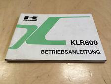 Kawasaki KLR 600 Betriebsanleitung / Fahrerhandbuch (1988-1989)