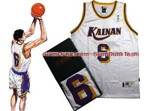 SLAM DUNK Cosplay Costume Kainan School Basketball #6 Jin Swingman Jersey WHT