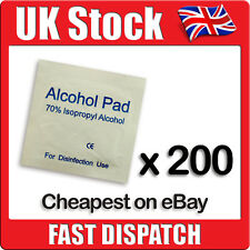 200 x IPA Wipes 70% Isoropyl Alcohol Swabs NHS Quality