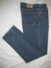 I>!>   EDDIE BAUER  ~ Mens  RELAXED  Blue Jeans ~ Sz 34/36 x 36 ~ EXCELLENT