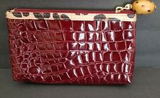 """New Without Tags Modella Lined Zippered Make Up Case Burgundy 7 1/2 X 4 3/4"""""""