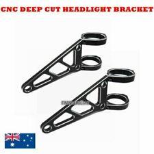Black CNC aluminum 49mm headlight bracket cafe racer bobber streetfighter custom