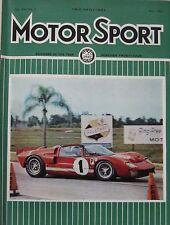 Motor Sport magazine 05/1966 featuring Speedwell Mini 1300 TC