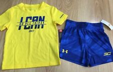Boys Under Armour 3C Outfit 2 Piece Baby Toddler Size 12 Months NEW!!