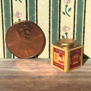 Dollhouse miniatures Beverage 1:12 Orange Pekoe Tea Tin NEW