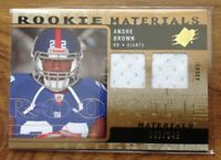 2009 Rookie Materials Andre Brown New York Giants Football Card & Jersey Cutting