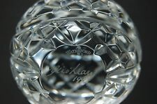 WATERFORD LISMORE  CRYSTAL PAPERWEIGHT