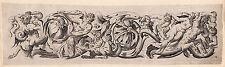 "Detailed 1636 GIANCARLI ""Satyr saving the Maiden"" VISSCHER Engraving Framed COA"