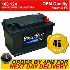 BulletBatt Heavy Duty 12V Car Van Battery Type 100 / 096 72ah - 4 Year Guarantee