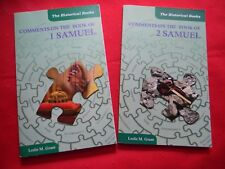 Comments On The Book of 1 Samuel & 2 Samuel by Leslie M. Grant, Lot of 2 Books