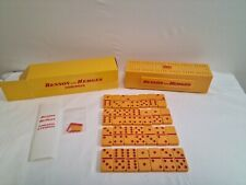 Vintage Benson and Hedges Dominoes And Cribbage Set Yellow Kitsch Tobacciana VGC