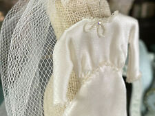 Miniature Artisan Dollhouse 1930's Janet Middlebrook Silk Wedding Gown & Veil