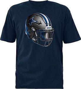 Dallas Cowboys NFL Merchandising Youth Stealth Helmet Navy T-Shirt, Medium