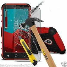 ShockProof Dual Layer Phone Case✔Glass Screen Protection✔Alcatel Pixi 4 (3.5)
