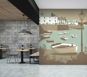 3D Dartmouth Boat R875 Wallpaper Mural Sefl-adhesive Removable Steve Read Amy