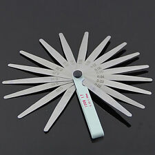 Set of 17 Blades Feeler Filler Gauge Spark Plug Gap Metric Measuring Tool Repair