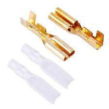 100PCS Gold Brass 2.8mm Crimp Terminal Female Spade Speaker Connectors