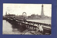General View of Blackpool from North Pier.1917 posted.