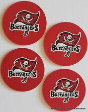 TAMPA BAY BUCCANEER CoasterSet 4 PRO Football NFL Licensed Sports LOGO DRINK FAN