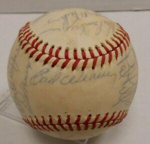 Earl Weaver Eddie Murray 1970s Baltimore Orioles 20 Sig Team Ball COA 012420DBT2