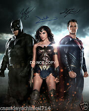 Batman v Superman cast reprint signed 11x14 poster photo by all 3 Gadot Cavill 2