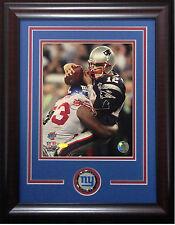 Jay Alford signed 8x10 SB photo framed Giants coin auto Steiner COA Tom Brady