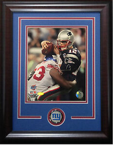 Jay Alford signed 8x10 SB photo framed Giants coin auto Steiner COA Tom Brady