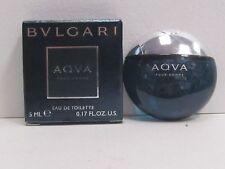 Aqva Pour Homme by Bvlgari Men 0.17 oz Eau de Toilette Splash Mini New In Box