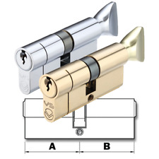 Thumb Turn Euro Cylinder Door Lock Anti Drill, Pick, Bump - uPVC, Patio (V5)