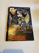 😍 leaflet instruction manual super nintendo snes pal vampire's kiss castlevania rare
