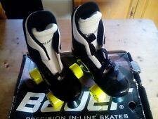 Retro Vintage Old School Bauer Turbo Pro  Roller skates Size 3   Quad Skates.NEW