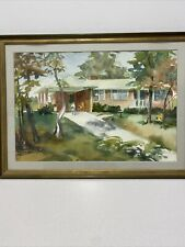 DOROTHY MATHEWS SIGNED ORIGINAL WATER PAINTING OF HOUSE