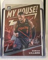 2019-20 Panini Donruss Optic Damian Lillard My House Silver #10 Trail Blazers