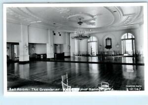 RPPC WHITE SULPHUR SPRINGS, WV ~ Ballroom THE GREENBRIER c1950s   Postcard