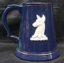 RARE Retro Huge 4 pint Blue Whitbread Pottery Tankard by Harry E.Tunnicliffe
