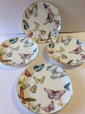 NEW! Williams-Sonoma Floral Meadow Butterfly Salad/Luncheon Plates ~ Beautiful