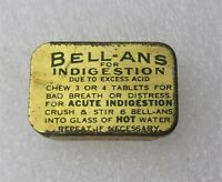 Antique Vintage BEEL-ANS Medicine Indigestion Miniature Advertising Tin - Empty