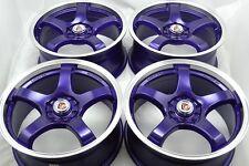 17 purple wheels rims Mazda 3 5 6 Jetta Neon Solara Corolla Celica 5x100 5x114.3