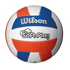 WILSON SUPER SOFT PLAY RED / WHITE / BLUE VOLLEYBALL OFFICIAL SIZE AND WEIGHT ,