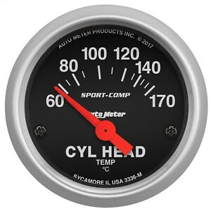 AutoMeter 3336-M Sport-Comp Electric Cylinder Head Temperature Gauge