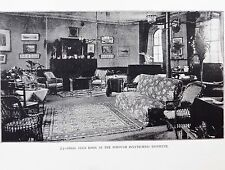 Victorian photo Borough Polytechnic London GIRLS CLUB ROOM adult education