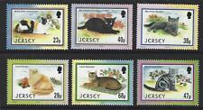 jersey 2002 Ensemble de chats de 6 Non montés excellent état, MNH