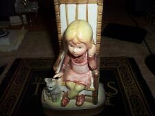 American Greetings litle girl on a chair with her cat figure good condition