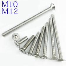 M10 M12 10mm 12mm DIN7991 304 Stainless Steel FLAT HEAD Socket Screws Bolt A2-70