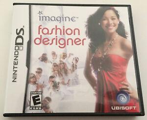 Imagine: Fashion Designer (Nintendo DS, 2007) GAME COMPLETE with MANUAL
