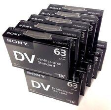 Sony Dvm63Ps Mini Dv Minidv Camcorder Video 63min Professional Tape - 10 Pack