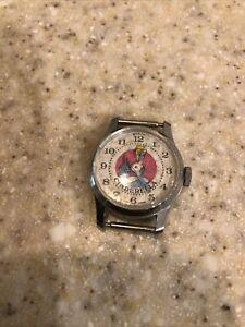 Vintage Disney Bradley Cinderella Swiss Silver Tone Watch 015 - Runs